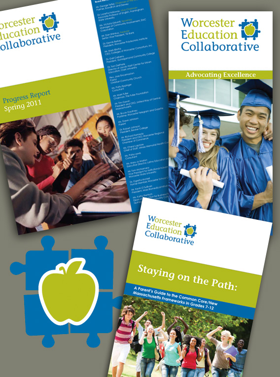 Worcester Education Collaborative Logo and Collateral Materials