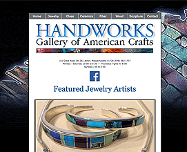 Handworks Gallery of American Crafts web design