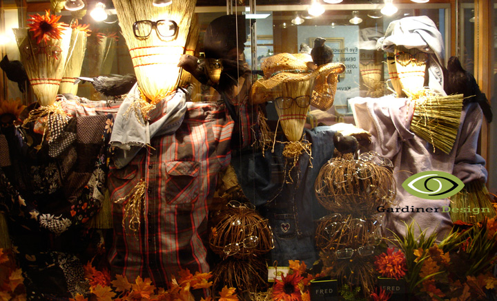 Premier Optical fall Window Displays